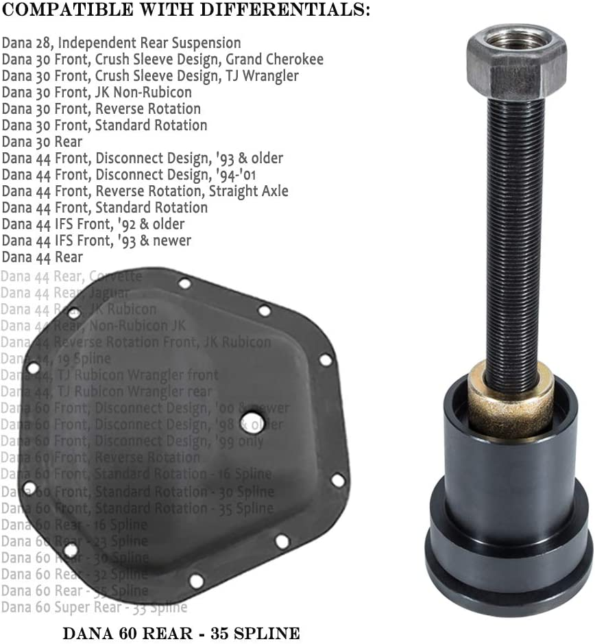 Opall Front Inner axle Seal Installation Tool Works with Dana 30 44 and 60 Front differentials