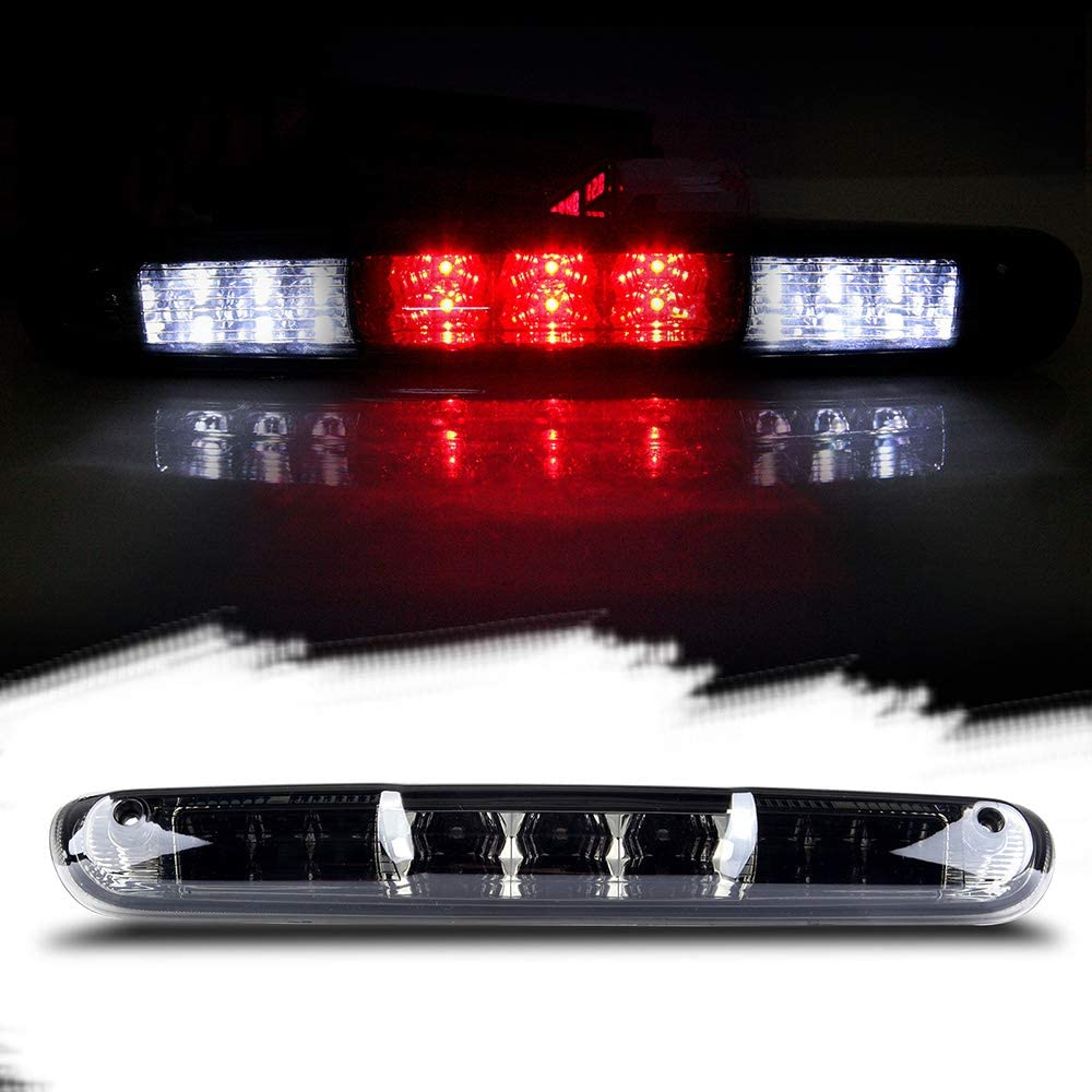 Third Brake Light LED 3rd Brake Light Rear Tail Brake Light Cargo Lamp Waterproof Smoke Lens Chrome Housing High Mount Brake Light Replacement fit for 2007-2013 Chevy Silverado//GMC Sierra 25890530