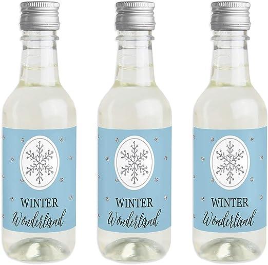 Pegatinas para botella de vino y champán de invierno de Wonderland ...