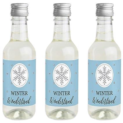 Amazon Winter Wonderland Mini Wine And Champagne Bottle