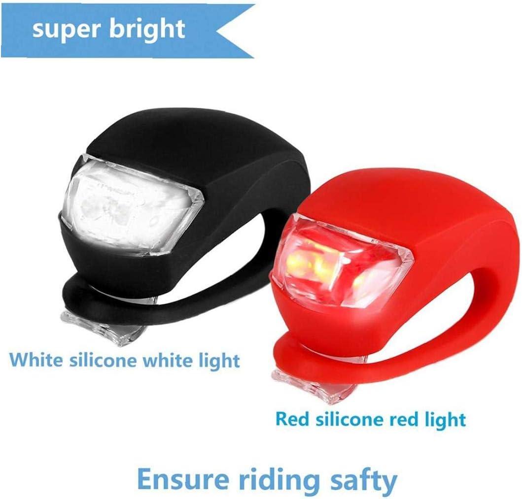 4Pcs Fahrradbeleuchtung Super Frog Silikon LED Fahrrad-Licht vorne und hinten Fahrrad-Licht