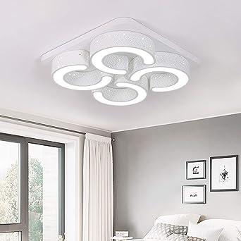 Lámpara de techo moderna LED 78W Luz blanca fría del techo Cuadrado Ahorro de energía Sala de estar Pasillo Pantalla de acrílico Lámpara de marco ...