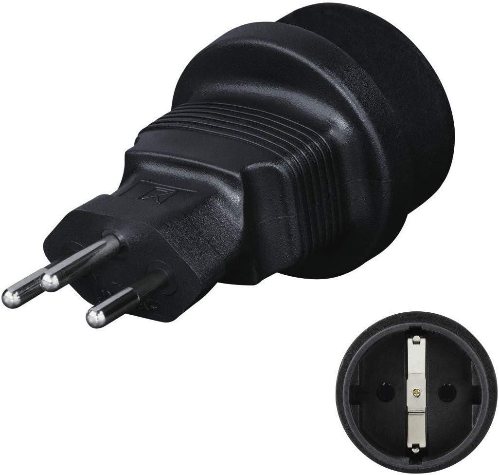 Hama 108884 - Adaptador de enchufe eléctrico, Negro: Amazon.es: Electrónica