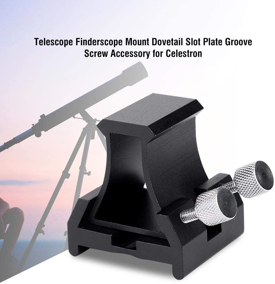 Yoidesu Universal Dovetail Base for Finder Scope,Telescope Finderscope Mount Dovetail Slot Plate Groove Screw Accessory for Celestron