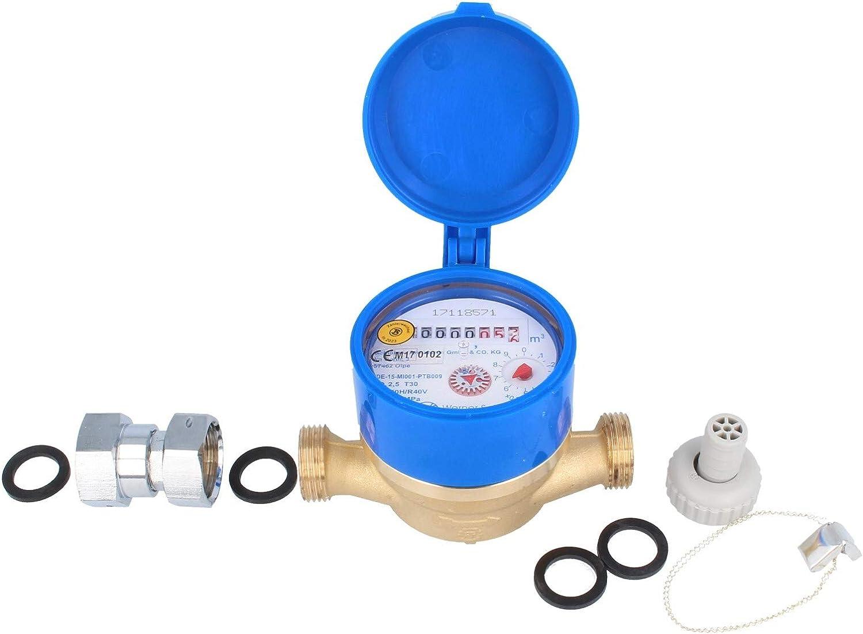JS Compteur de robinet de raccordement 110 mm avec raccord 3//4