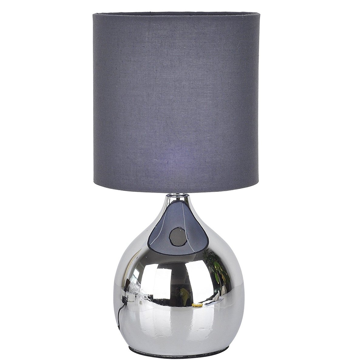 Grey Mini Touch Table Lamp 4 Stage Chrome Desk Bedside Light Wide 6 inch Tall 12 inch Small by tiffanyhouse