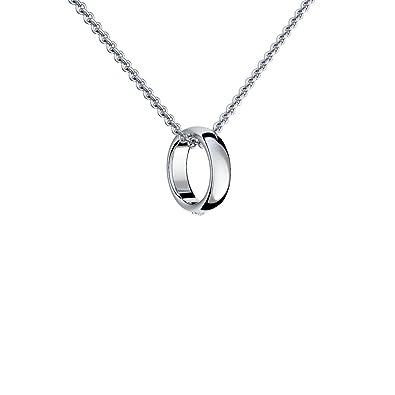 943e01cde9925 Ring Anhänger Kette Silber 925 + inkl. GRATIS Luxusetui + Ring an Kette  Taufring Taufkette