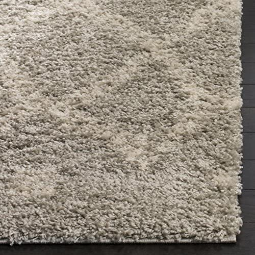 Safavieh Arizona Shag Collection ASG747D Grey and Ivory Area Rug 9' x 12'