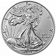 2021 American Silver Eagle Type 2 .999 Fine Silver with Our Certificate of Authenticity Dollar Uncirculated US