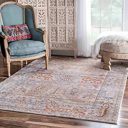 Traditional Oriental Inspired Fancy Floral Paisley Rug, 5 Feet 3 Inches by 7 Feet 7 Inches (5'3 x 7'7)