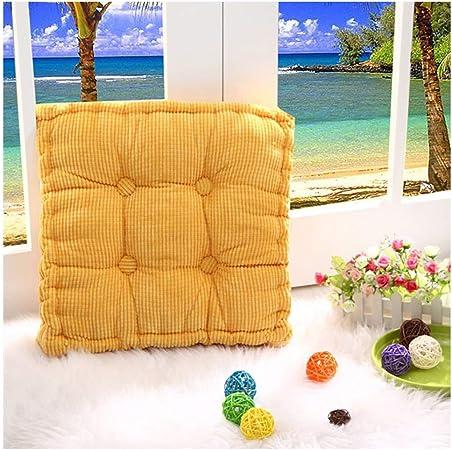 Cojines para Muebles de jardín Lounge sillas de Mimbre de Exterior Asiento Grueso Acolchado Aprox. ,Amarillo,40X40cm: Amazon.es: Hogar
