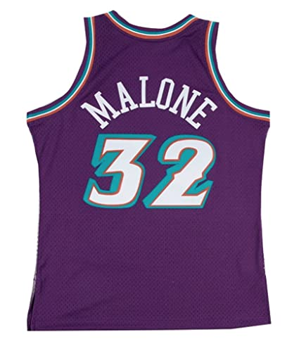 a7d4faf8b Image Unavailable. Image not available for. Color  Mitchell   Ness Utah  Jazz Karl Malone Swingman Jersey ...
