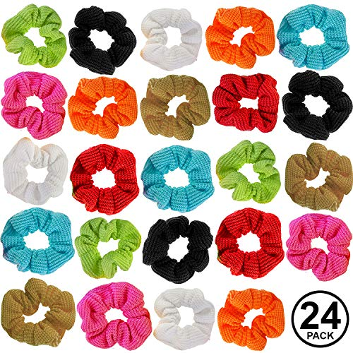 CoverYourHair Scrunchies for Hair - Colorful Scrunchies - Scrunchy Hair Ties - Assorted Hair Accessories