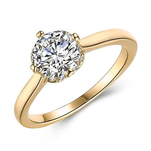 Anillo de compromiso elegante, anillo de moda para mujer, anillo ...