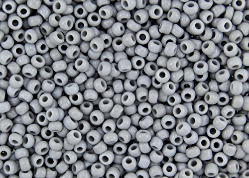 11/0 Toho Japanese Seed Beads - Grey Opaque #53 (28g Tube)
