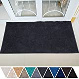 DEARTOWN 31x59 Inch Absorbent Chenille Microfiber Dog Door Mat | Absorbent, Quick Dry, Anti-Skid TPR Bottom (31x59 Inches, Dark Gray)