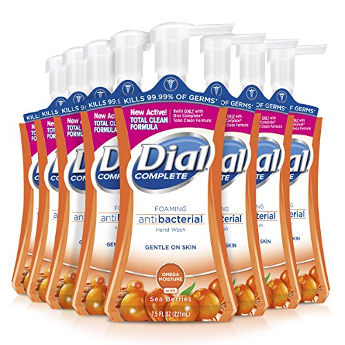 - Dial Complete Antibacterial Foaming Hand Wash, Omega Moisture, 7.5 Ounce (Pack of 8)
