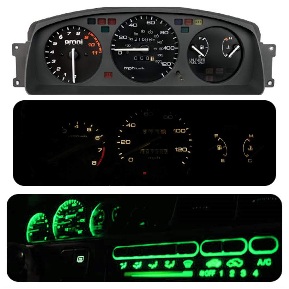 Climate Control Bulb Led Light Kit for Honda Civic Eg 1992-1995 Pack of 16 WLJH Super Bright Green Dash Instrument Panel Gauge Cluster