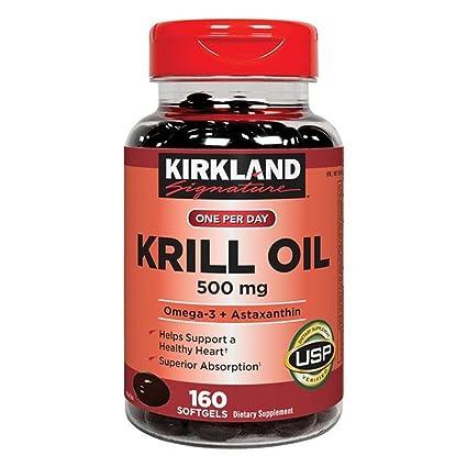 Kirkland Signature Krill Oil 500 mg., 160 Softgels by Kirkland Signature