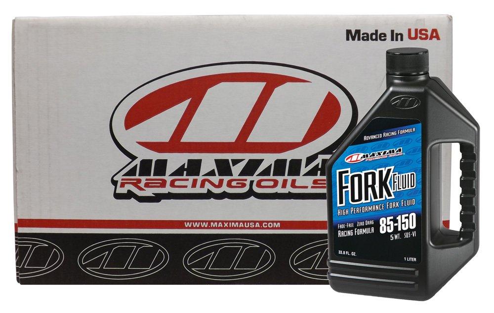 Maxima (CS59901-5-12PK) 5WT Grade-85/150 Racing Fork Fluid - 1 Liter, (Case of 12)