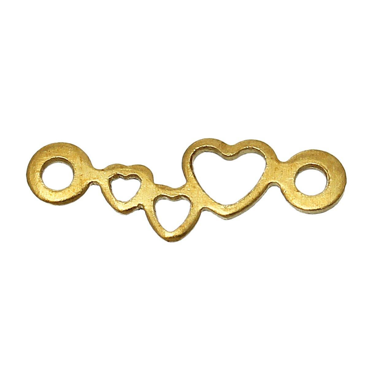 SiAura materiale/®/ /50/X Gioielli connettore rame ottone colore 12/X mm a forma di cuore