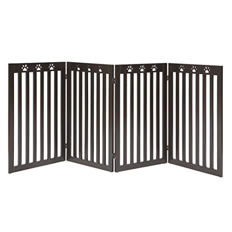 Amazon Com Unipaws Freestanding Paw Deco 36 Tall Dog Gate