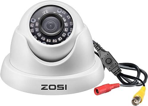 Opinión sobre ZOSI 1080P Cámara de Vigilancia Exterior para Kit de Cámara Seguridad, 20M Visión Nocturna, Blanca, con Botón OSD