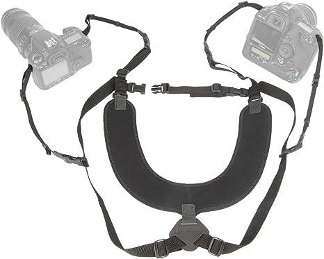 OP/TECH - Arnés de Neopreno para 2 cámaras, Color Negro: Amazon.es ...