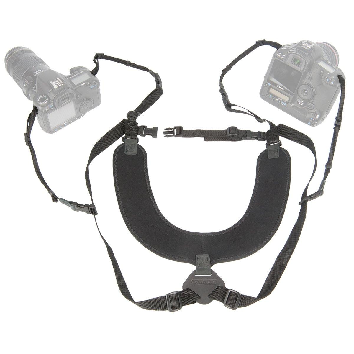OP/TECH USA Dual Harness-Regular, Black 6501032