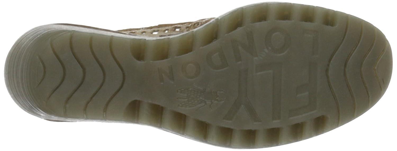 Fly London Womens Yika733Fly Leather Shoes B01LYI64KJ 42 M EU Silver (Luna/Camel 007)