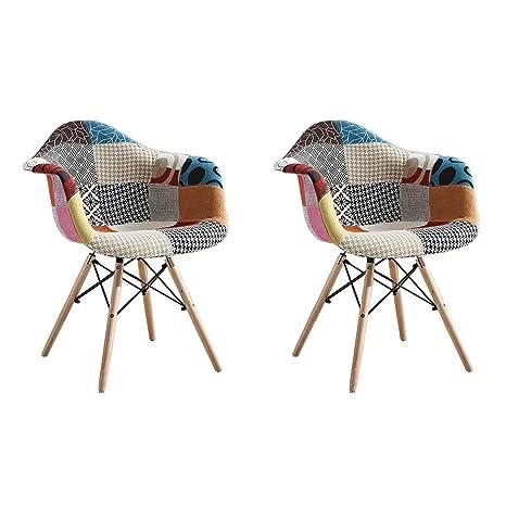 GroBKau - Juego de 2 sillones de Comedor Modernos de ...