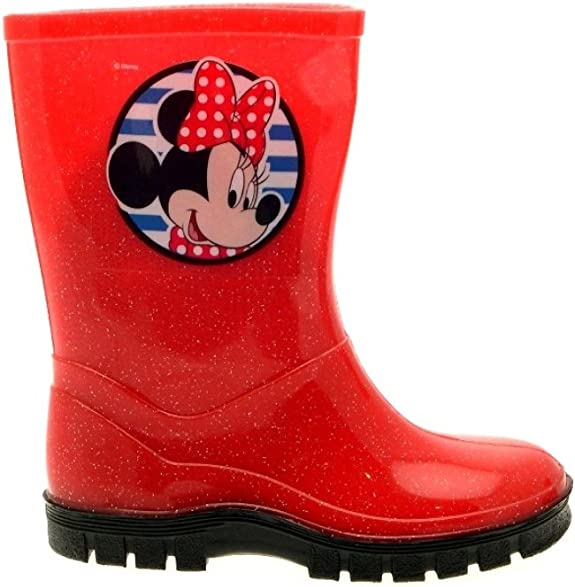 Disney Minnie Mouse Bottes de pluie pour fille avec semelle antid/érapante et col avec fermeture r/églable