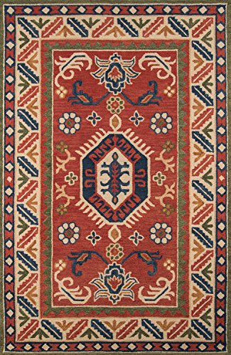 Momeni Rugs TANGITAN-8IVY5080 Tangier Collection, 100% Wool Hand Tufted Tip Sheared Transitional Area Rug, 5' x 8', Ivory (Wool Burnt Sienna Rug)