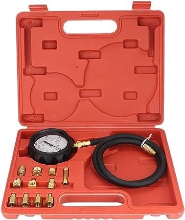 Kit per misurare la Pressione dellolio Motore 13Pcs Misuratore di Pressione Olio Sistema Universale manometro Olio Auto manometro Olio Auto