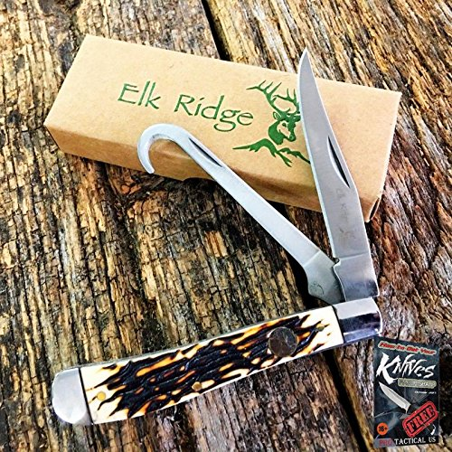 Elk Ridge ER-436I Gentlemans Folding Pocket Elite Knife EDC EQUESTRIAN gut hook + free eBook by ProTactical'US