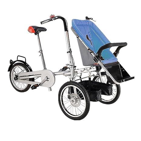 Carrito de bebé puede sentarse y descansar para padres y niños Tricycle Mother Niño Bicicleta Portátil
