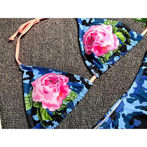 Bikini Donna Sexy Costume Spiaggia reggiseno Azul imbottito Monokini Swimwear Bagno up Push Juleya Set Bikini Da floral Set EqWRK8
