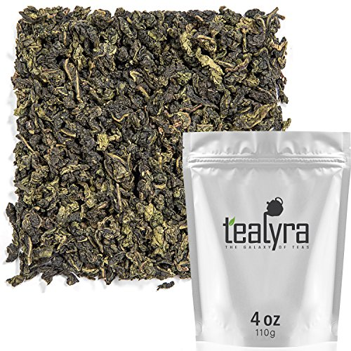 (Tealyra - Tie Guan Yin - Oolong Loose Leaf Tea - Iron Goddess of Mercy - Organically Grown - Healing Properties - Best Chinese Oolong - Fresh Award Winning - Caffeine Medium - 110g (4-ounce) )