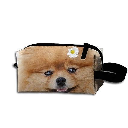 Amazon Com Portable Multifunction Travel Makeup Bag Pomeranian Dog