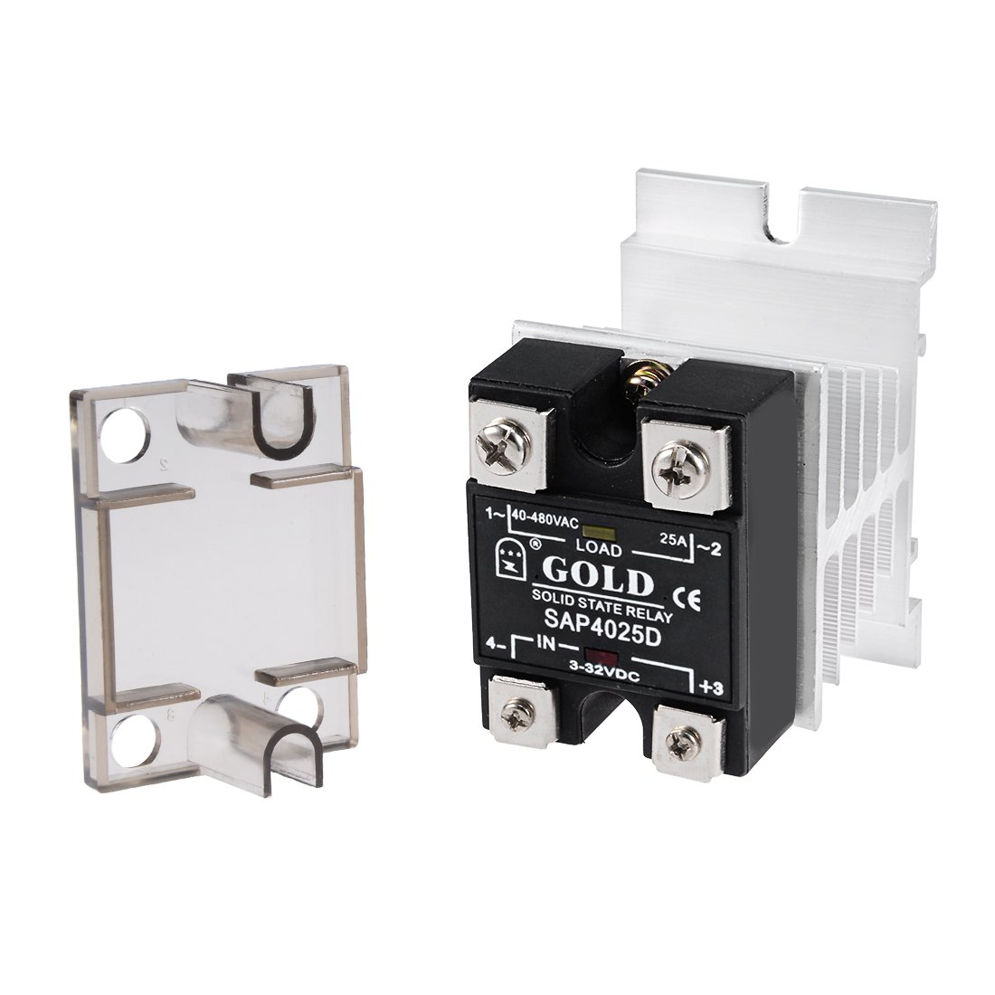 Uxcell Sap4010d 3 32vdc To 40 480vac 10a Single Phase Solid State Relay Triac Module Dc Ac Home Improvement