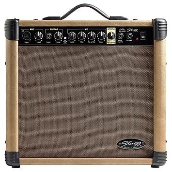 Stagg 40 AA R UK - Amplificador de guitarra acústica con Spring Reverb 40 W,