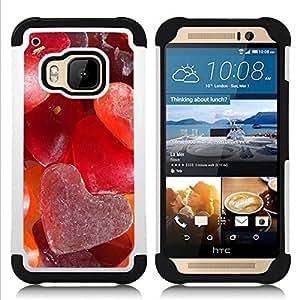 """Hypernova Híbrido Heavy Duty armadura cubierta silicona prueba golpes Funda caso resistente Para HTC One M9 /M9s / One Hima [El amor del Corazón de Azúcar""""]"""