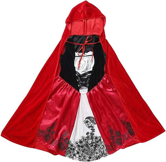 QSEFT Las Niñas Kid Caperucita Roja Disfraz para Niños Halloween ...