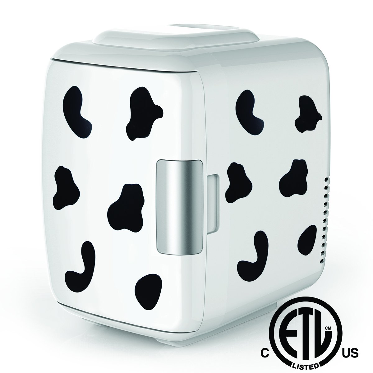 Cooluli Mini Fridge Electric Cooler and Warmer (4 Liter/6 Can): AC/DC Portable Thermoelectric System w/Exclusive On the Go USB Power Bank Option (Cow)