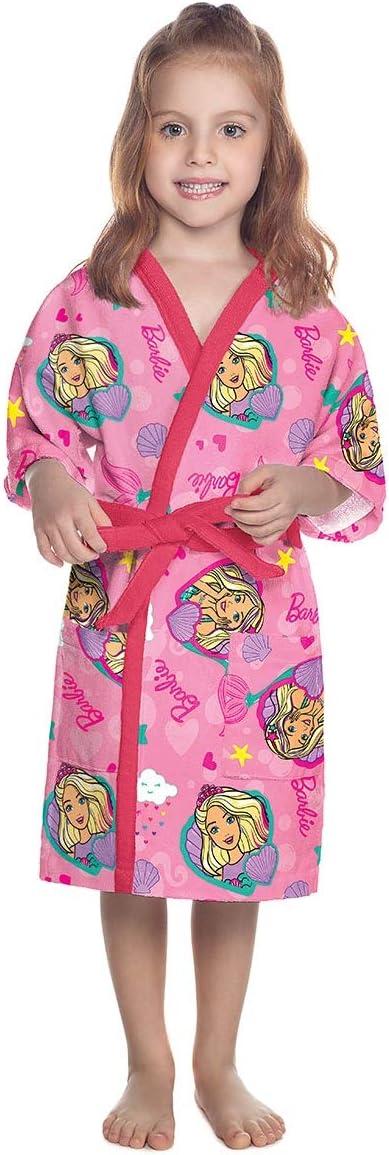 Roupão Aveludado Infantil Quimono Barbie Reinos Mágicos