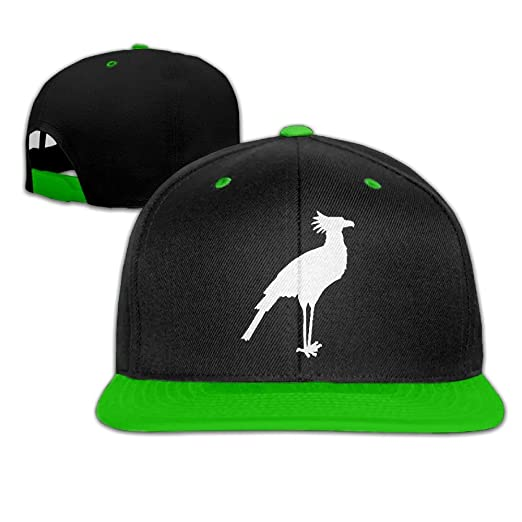 Mens Womens Hip-hop Hats Secretary Bird Silhouette Adjustable Flat Bill  Baseball Caps 1530586fd42