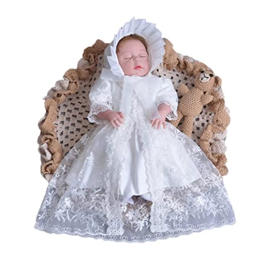 ADHS Toddler Girl Newborn Gowns Prom Party Wedding Birthday Dress and  Cloak(Beige 322866e16