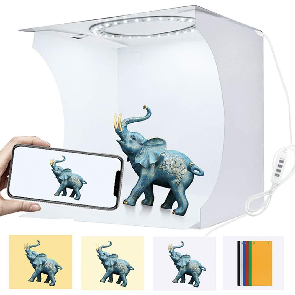Folding Photography Photo Lighting Studio Box Shooting Tent Kit with White Light//Soft Light//Warm Light 64 pcs LED Lights 6 Colors Backdrops Portable Ring Light Photo Studio Light Box
