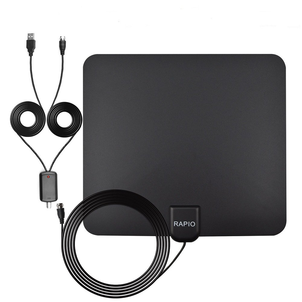 Amazon.com: RAPIO 50 Miles Range Digital HDTV Amplified Indoor TV ...