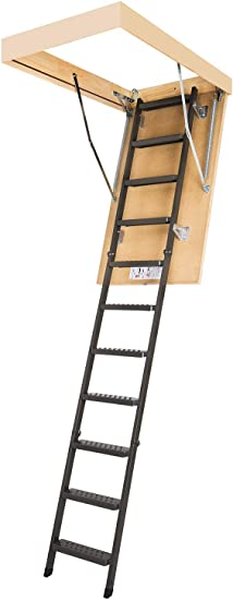 Fakro Lms 66869 Insulated Steel Attic Ladder For 30 Inch X 54 Inch Rough Openings Extension Ladders Amazon Com